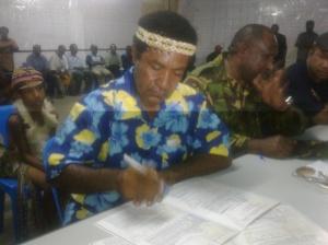 MP Elect Daniel K Mona Signs Declaration Forms