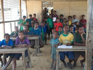 Students in Class - A class in the famous Tolukuma Gold mine Primary School