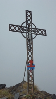 Cross at the Submit of Mt ALbert Edward