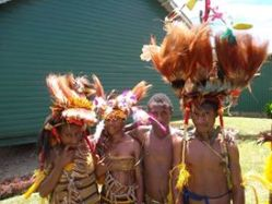 Tapini Sacred Heart High School Students in Traditional Attire
