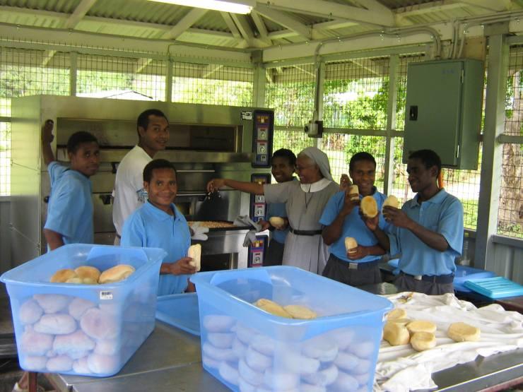 Home Economics Class in Tapini Sacred Heart High School