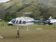 Chopper Loaded and Headed for Kerau