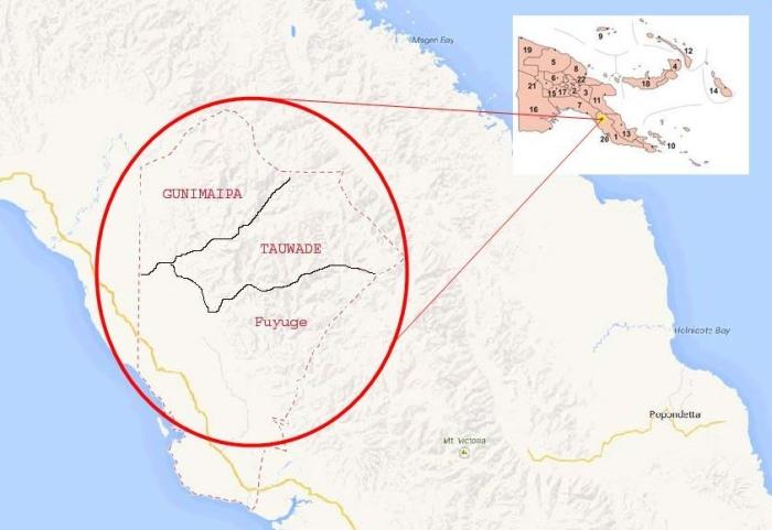 Goilala District Map
