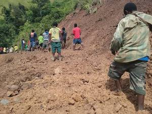 Goilala Highway In Shatters - Photo By Father Casmiro Kito