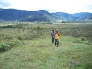Tarcy Paul walking up to Paimuru