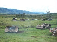 Korobosi Village in front and Pipikone beside Ivani River