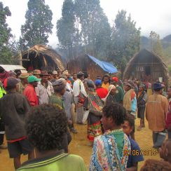 Reception at Isaicum village at Ononge on arrival