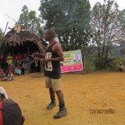 Allan Fasi Speak to the Locals at Isaicum Village