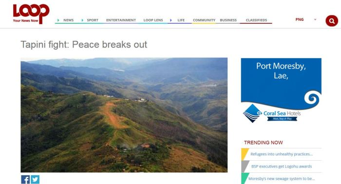 PNGLoop News Media reporter - Juliana Waeda believes there is tribal fights in Goilala.