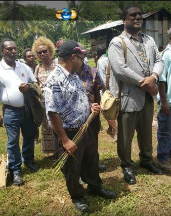 Pangu Party Gen Secretary Morris escoting Kairuku Hiri and and Goilala MPs 1 - Dubuy Highway