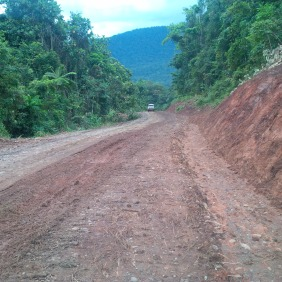 Mona Highway Been Worked on by Contruct Ocenic Limited - From Angabanga River back towards Kuni-Bakoiudu village in Kairuku Hiri
