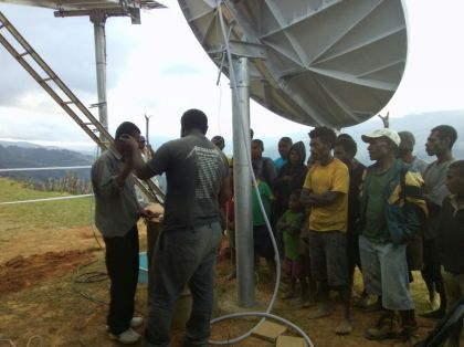 Installation in Progress - Ononge Visat Project