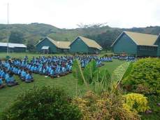 Student at Asembly ground - Tapini Sacred Heart High School