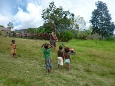 Brunce Mamando Slashes Grass on Airstrip - Fane