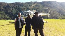 Clerence Keme with Ilo Dam with Harry in Tanipai