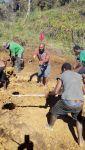 Kanitata Farmers digging their fish pond  - Kosipe