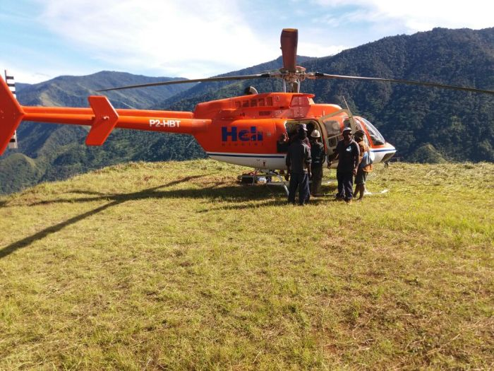 Airborne Logistics Chopper at Sopu Airstrip