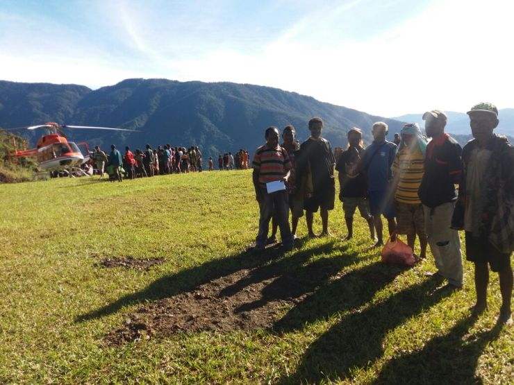 Locals at Yongai Airstrip
