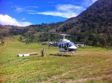 Chopper at Tapini Station, Goilala, Central Province