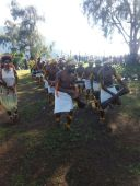Kafano Youths performs at a Welcome Ceremony for Member for Goilala
