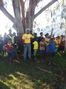 Part of the Crowd - Yongai at the recent visit by Member for Goilala - Hon William Samb