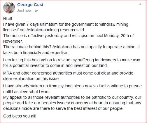 George Gusi - Asidokona