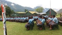 Students Assembled - Tapini Sacred Heard Secondary High School, Goilala