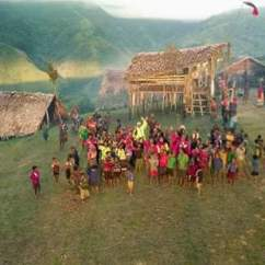 Drone Shot of Sopu locals in Sopu Village during the recently held District Development Authority meeting.