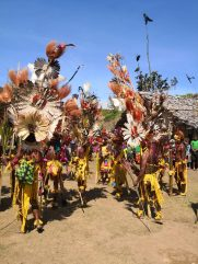 Traditional Dancing at a event in Kambisea to coincide with launching of various agriculture projects by Member for Goilala Hon. William Samb and Delegation. Photo Credit: Stephen Clay Komni