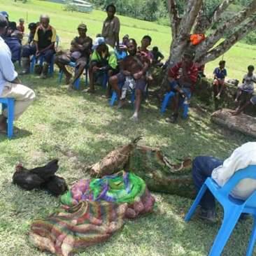 Local Communities Contribute Food - 1st Year 12 Graduation - SHSH Tapini